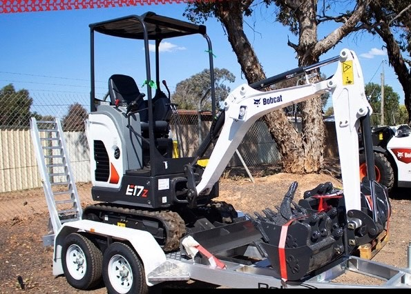 Mini Digger Hire 2T Excavator with Trailer