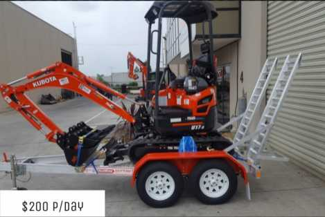 U17-3 Kubota Mini Excavator for hire