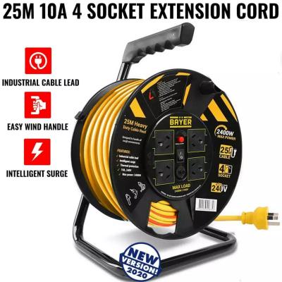 Hire 25 Meters 10 Amper 4 SOCKET EXTENSION CORD