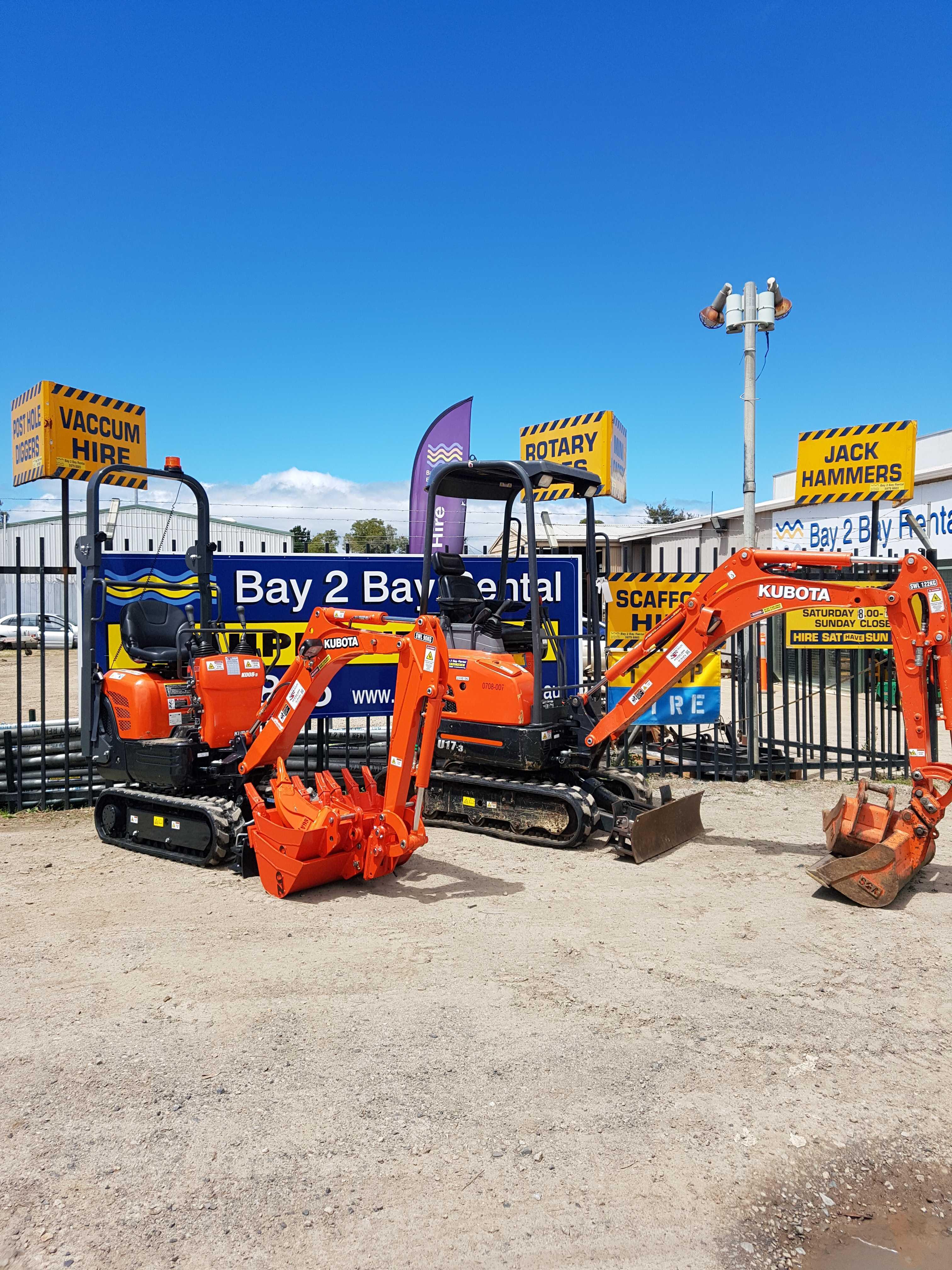 Hire Mini Excavators 1.7t & 1 T