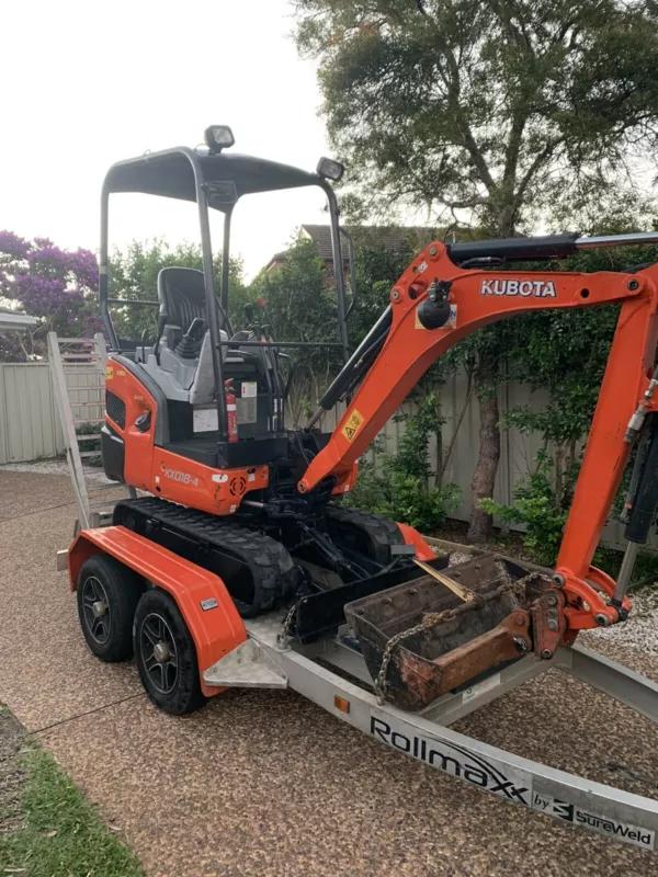 Hire 1.8T mini excavators