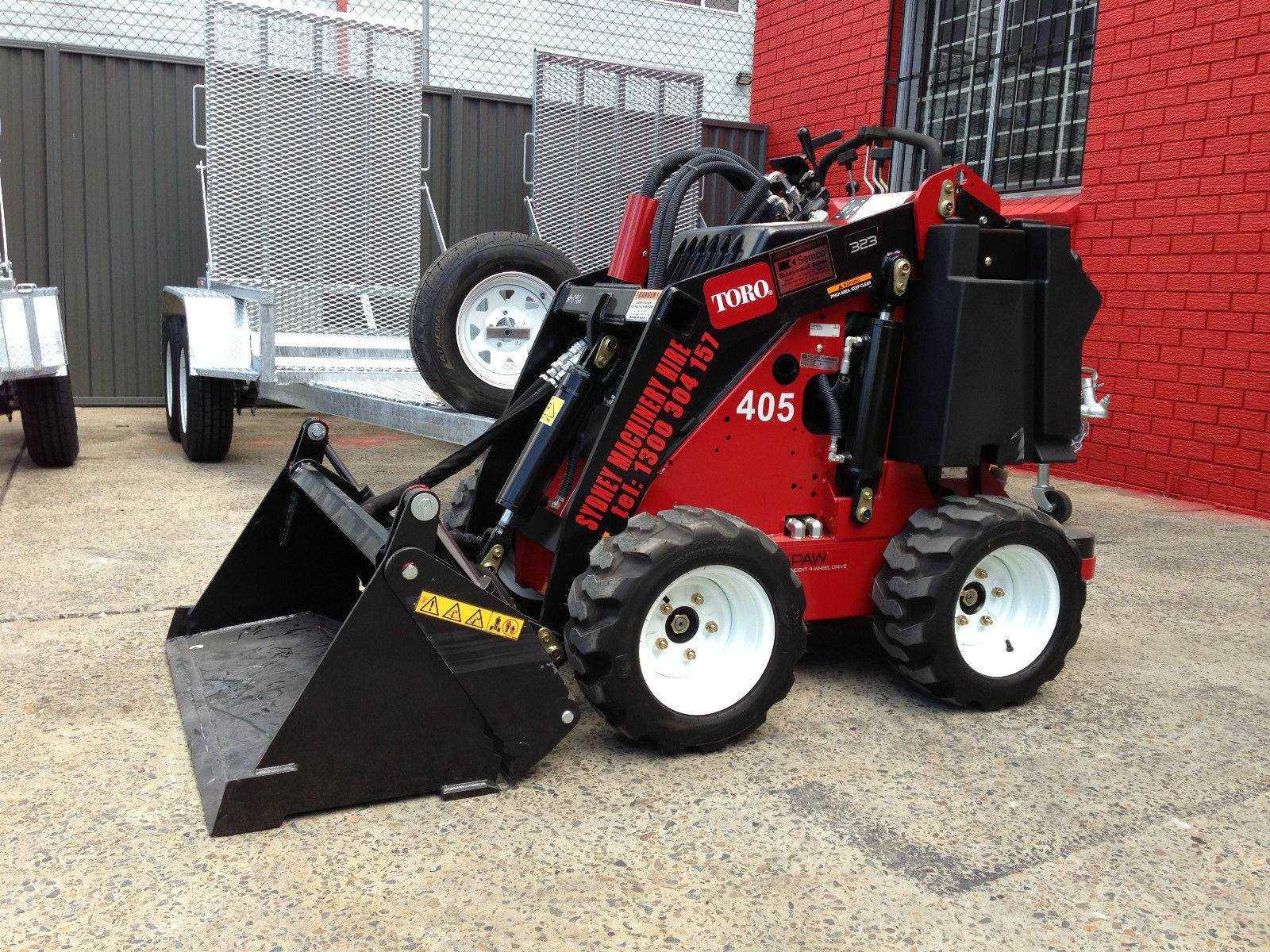 Hire Wheeled mini dingo loader Toro – includes 4 in 1 bucket & trailer