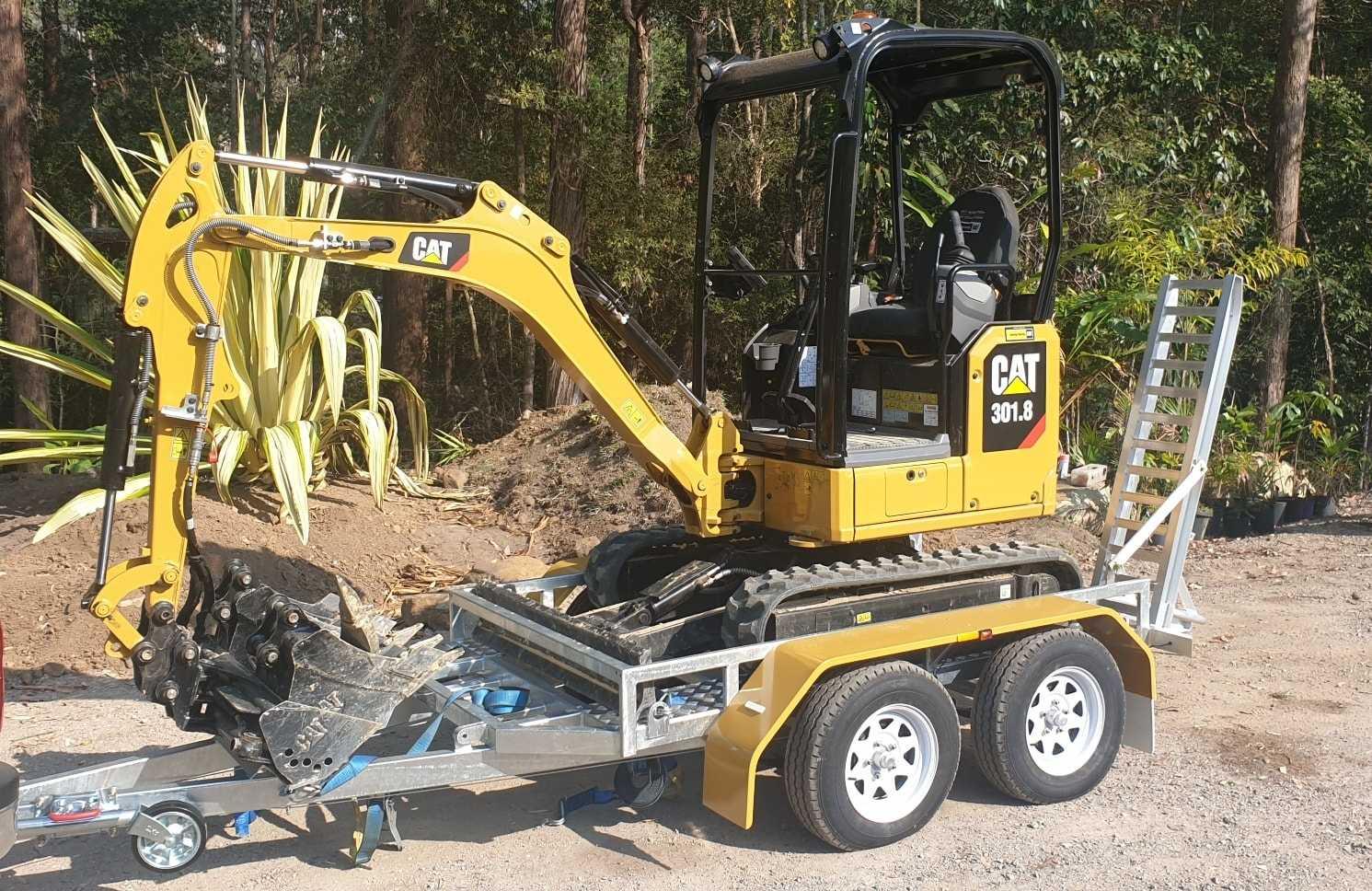 Hire Next Gen CAT 1.8t excavator