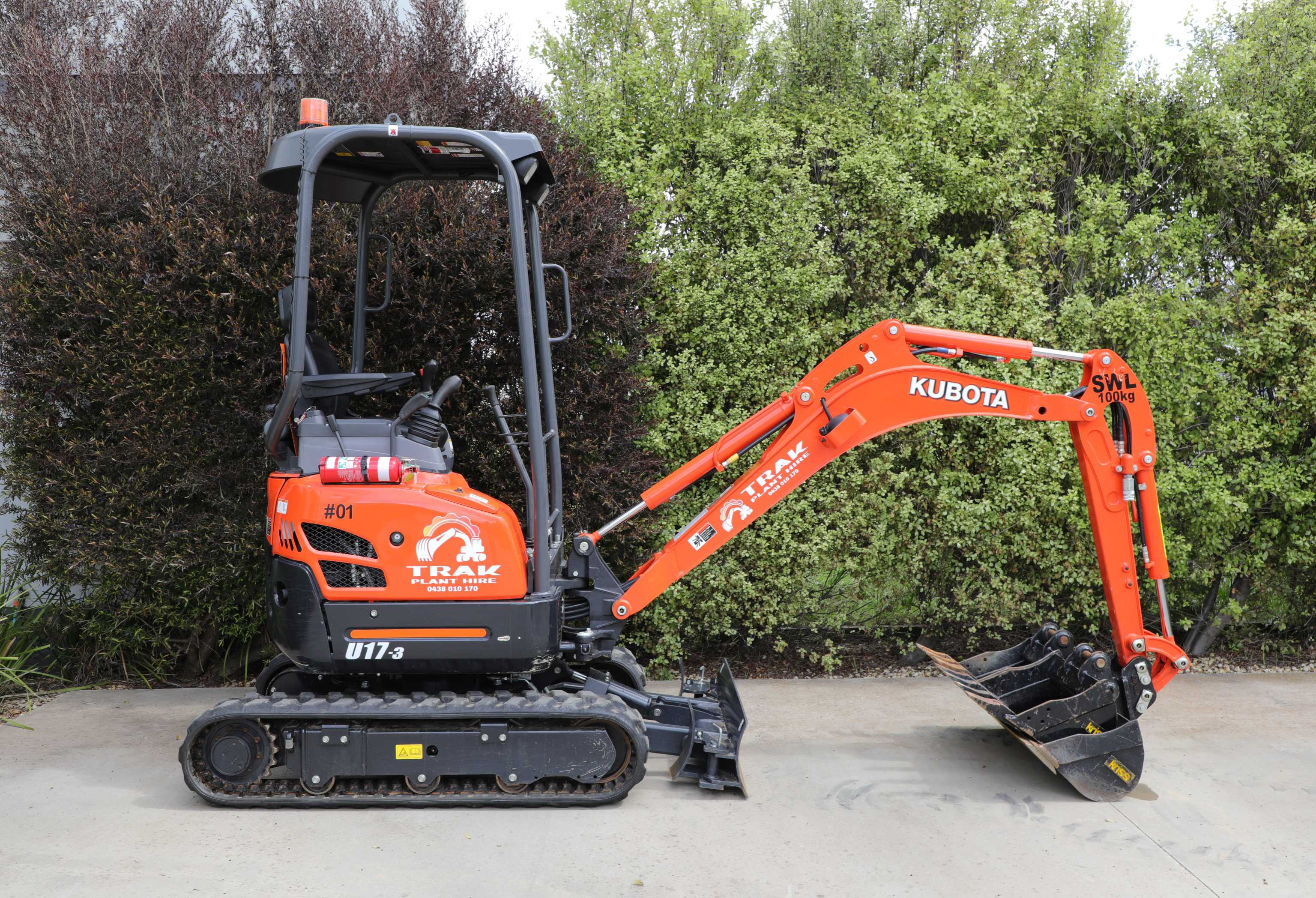 Mini Digger Hire 1.7t Excavator with Trailer
