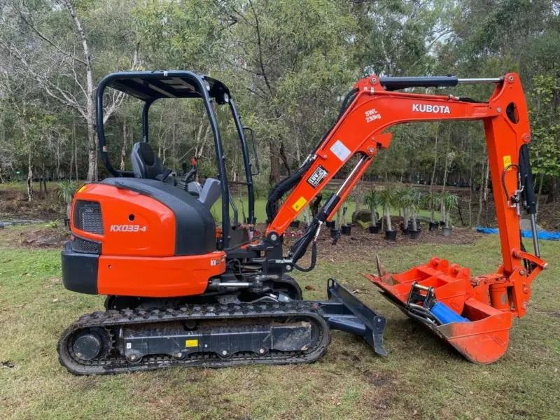 3T Kubota Excavator for hire