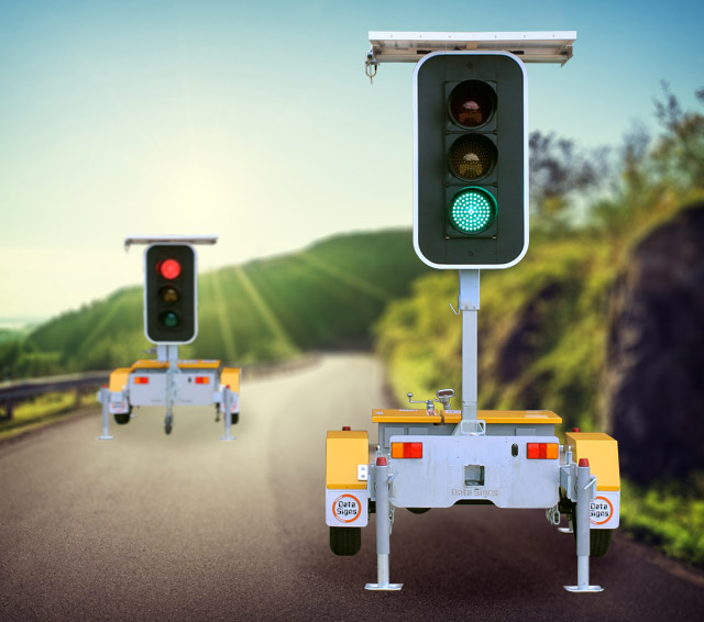Hire Trailer Mounted Traffic Lights