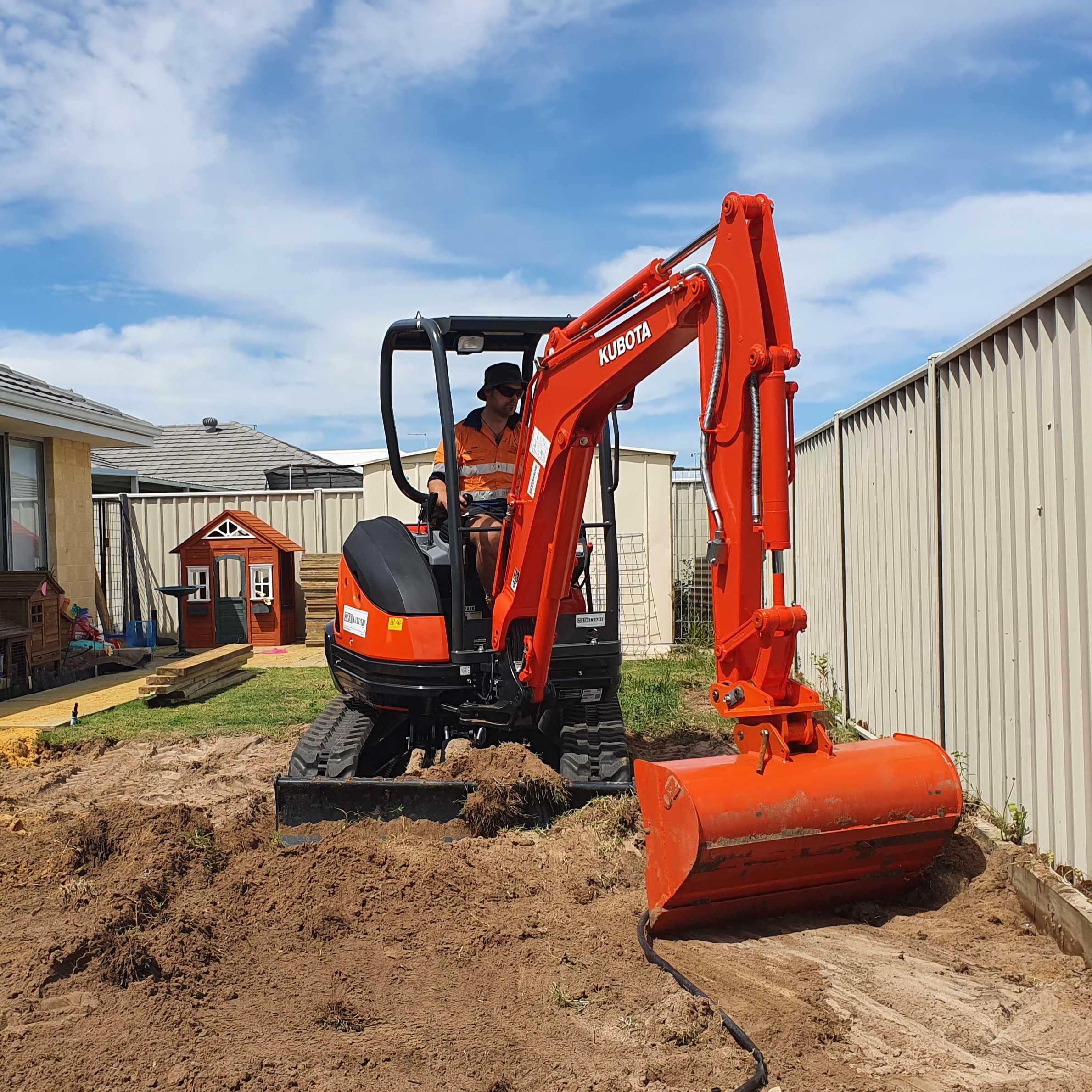 Hire 2.5 Ton Excavator with Operator