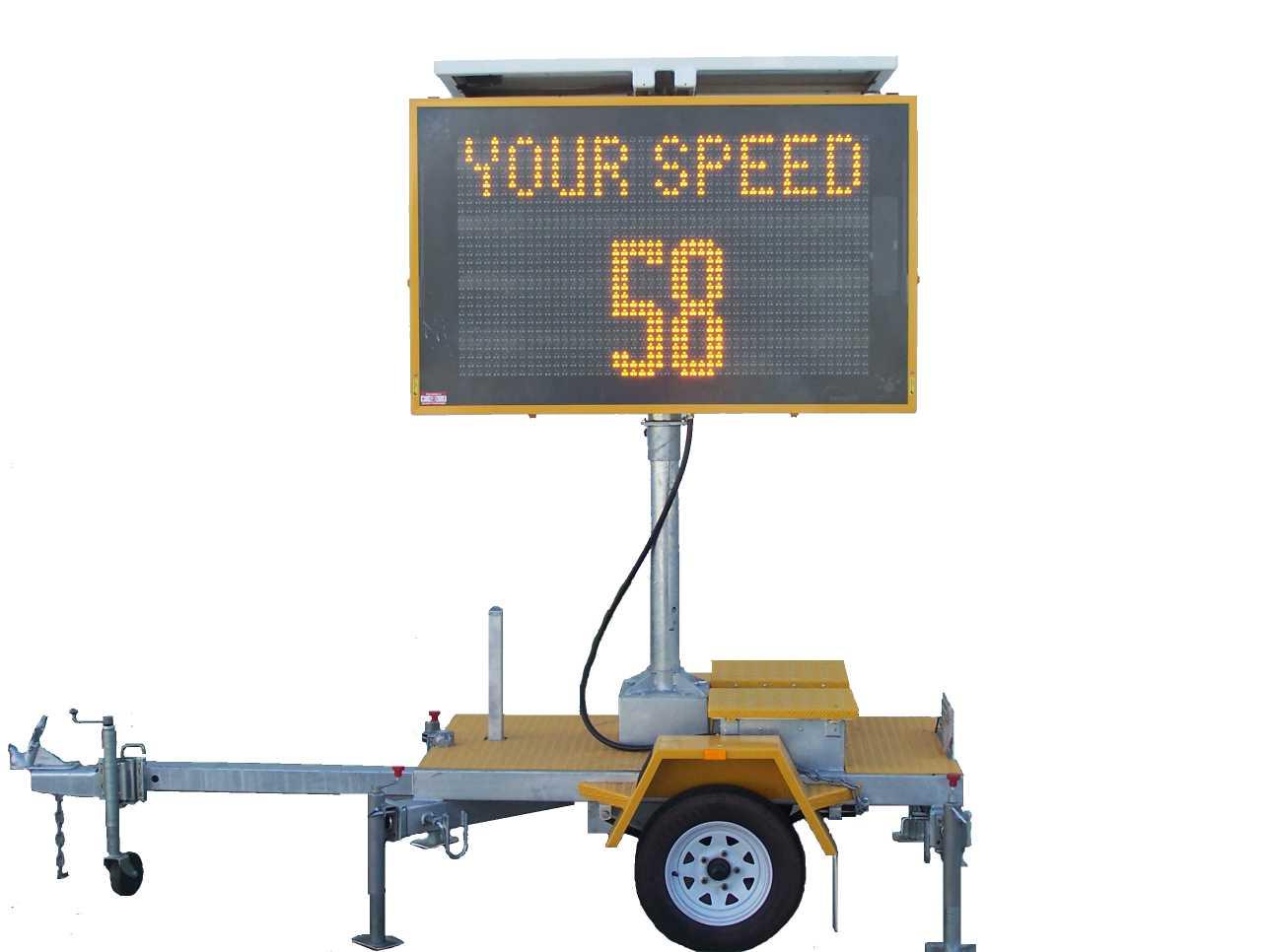 Hire Speed radar VMS signs