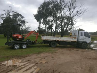Hire 1.7T Excavator + Tipper - combo