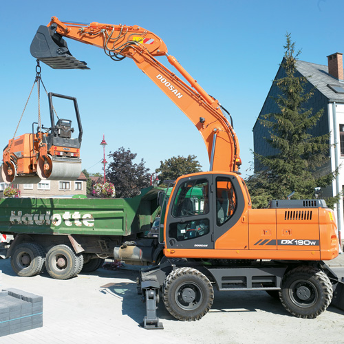 Hire DX190W Wheeled Excavator