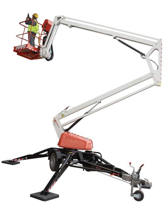 Hire 10.9m Trailer Mounted Boom Lift