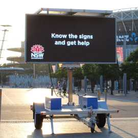Hire Solar Video Message Sign