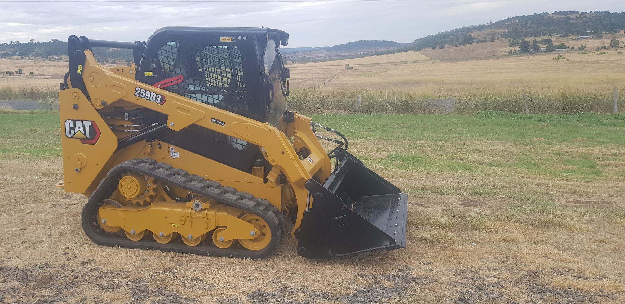Hire Cat 259D3 tracked skid steer