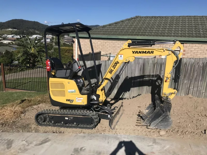 1.7T ton Yanmar mini excavator for Hire near Karana Downs
