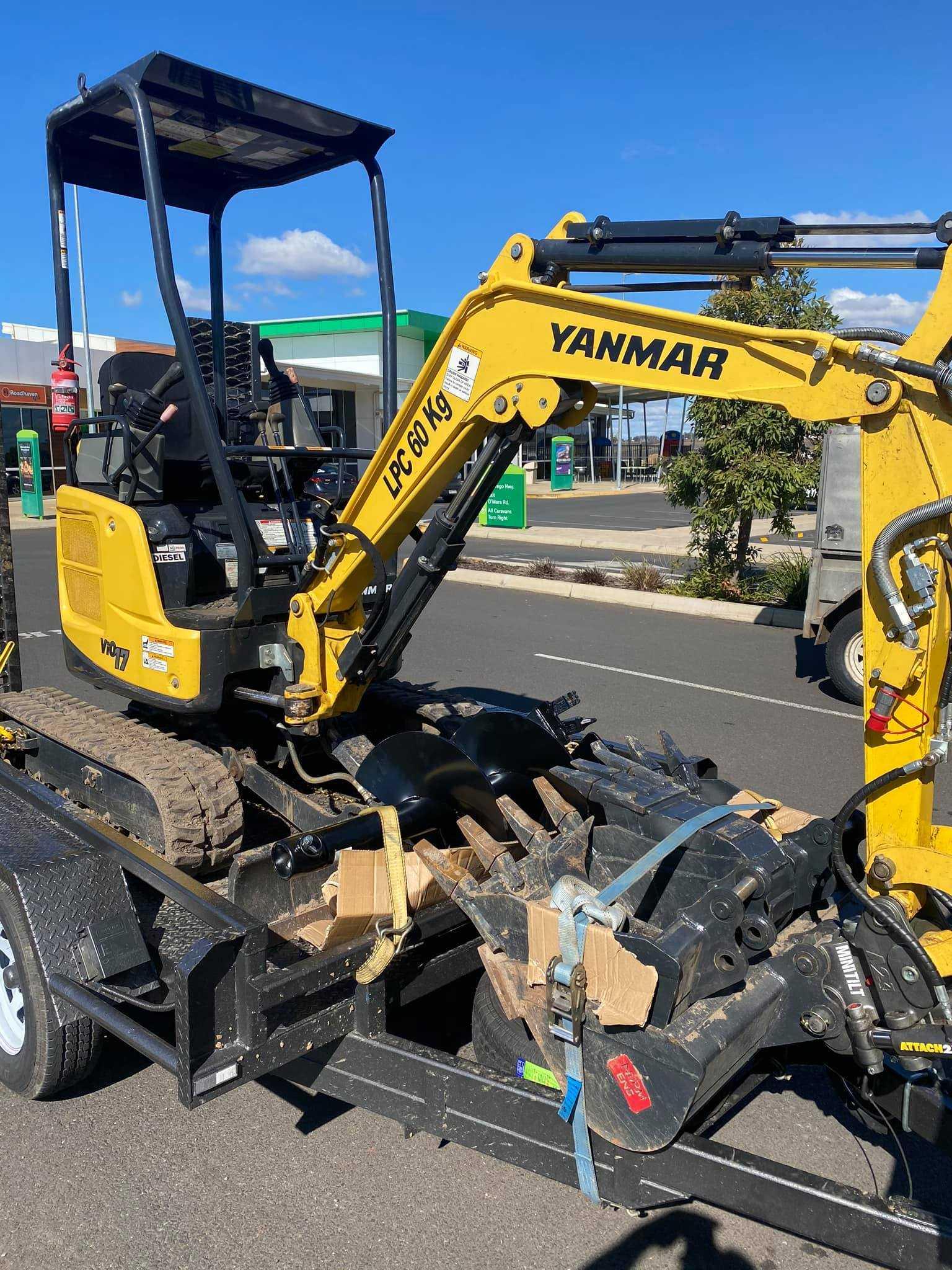 1.7 ton Yanmar excavator for hire near Logan Village