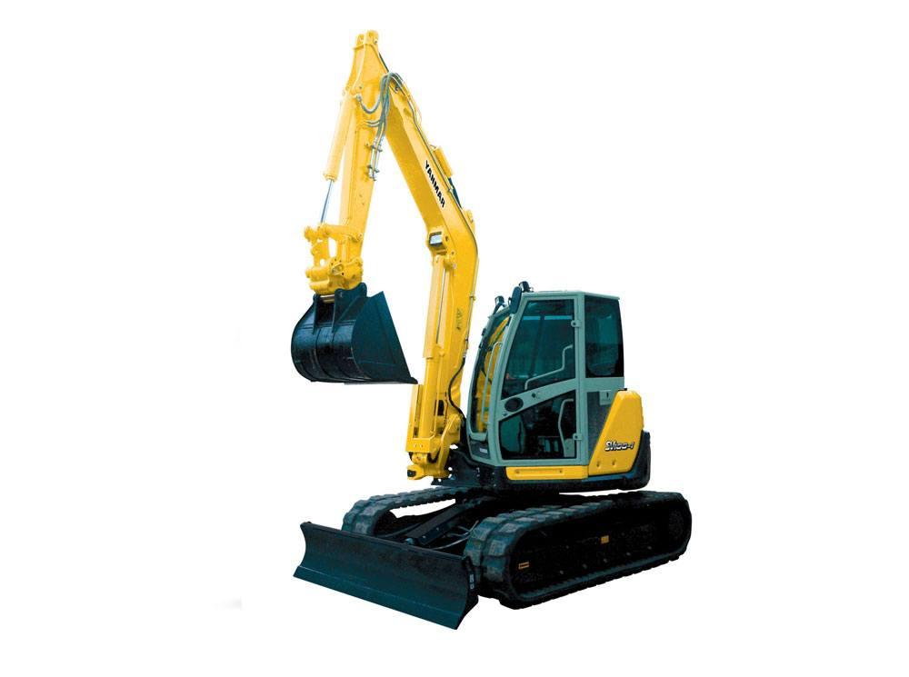 Hire Yanmar sv100 10 tonne zero swing excavator + three buckets