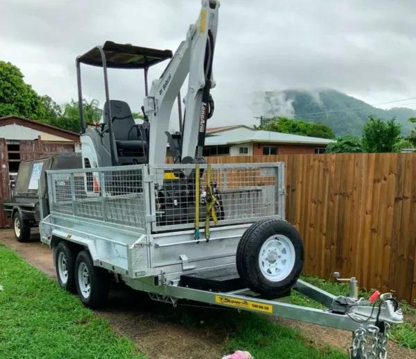 2t Mini Excavator Machine Hire (WET AND DRY)- Manunda, Parramatta Park, Westcourt, Bungalow  Mooroobool, Cairns
