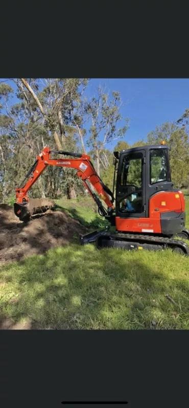 Hire Kubota 3.5T excavator