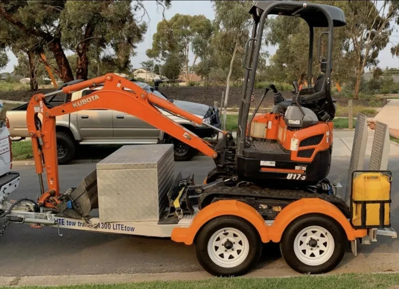 Hire 1.7T Mini Excavator