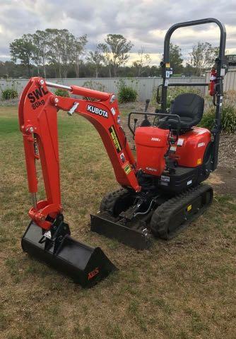 Hire Kubota 1T mini Excavator only 700mm wide