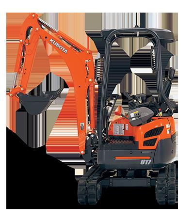 Kubota U17-3 mini excavator for hire near Brighton, QLD