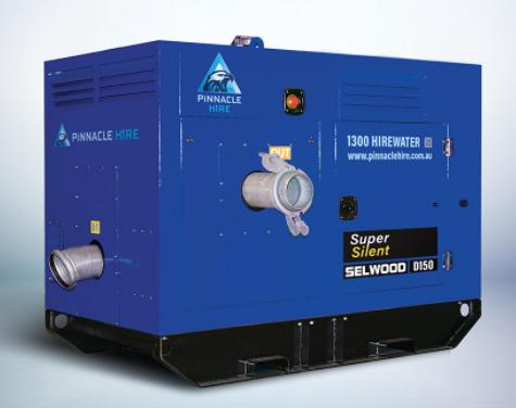 """Hire 6"""" Dewatering Pump, skidmount, diesel-powered"""