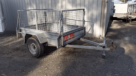 Hire Trailer  Single Axle Caged Size: 6' x 4'