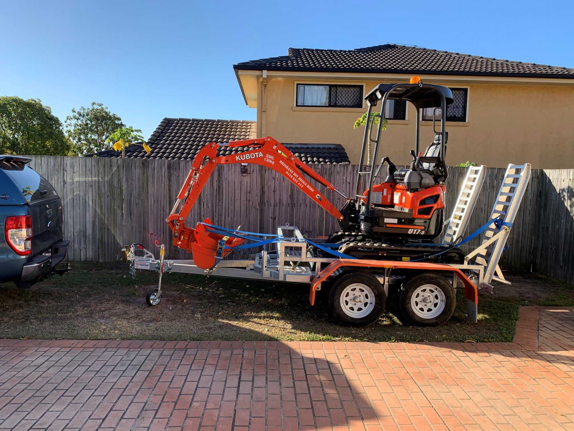 Kubota U17-3  - 1.7T 2019 ZERO tail swing Mini Excavator for dry hire - Parkinson QLD