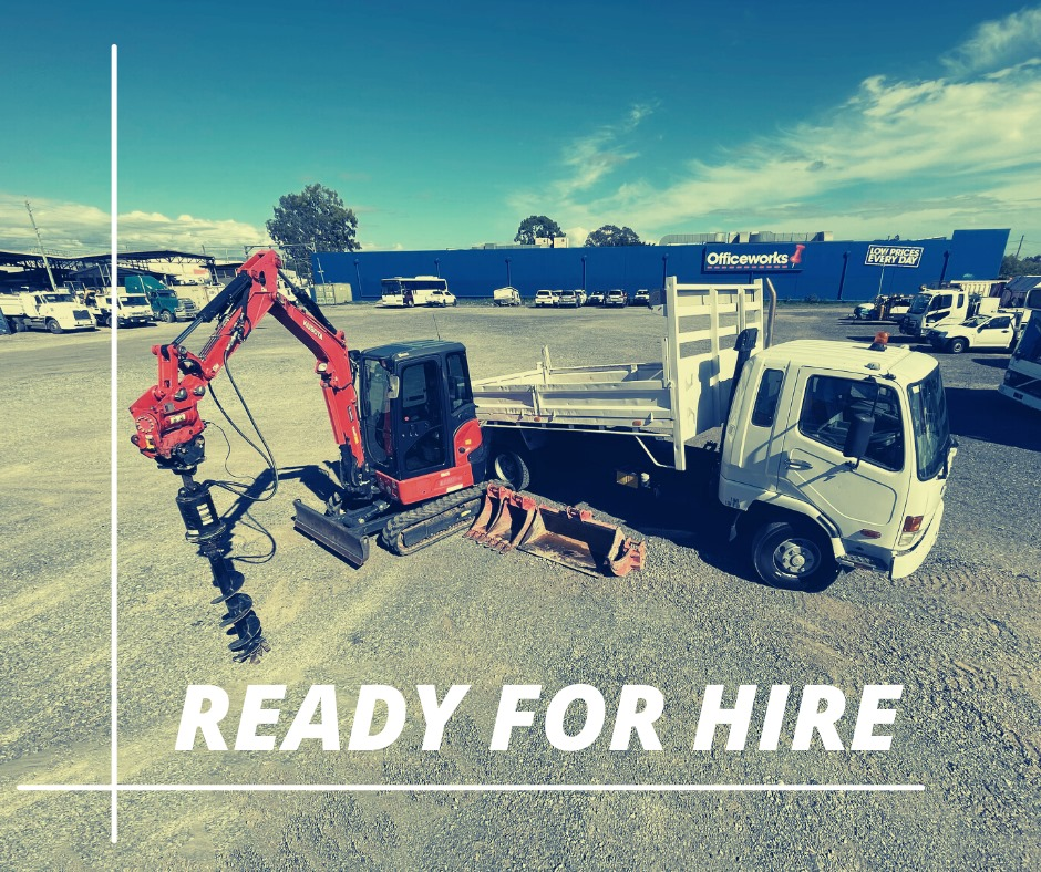 3.5t Excavator and Tipper combo wet Hire (with operator)