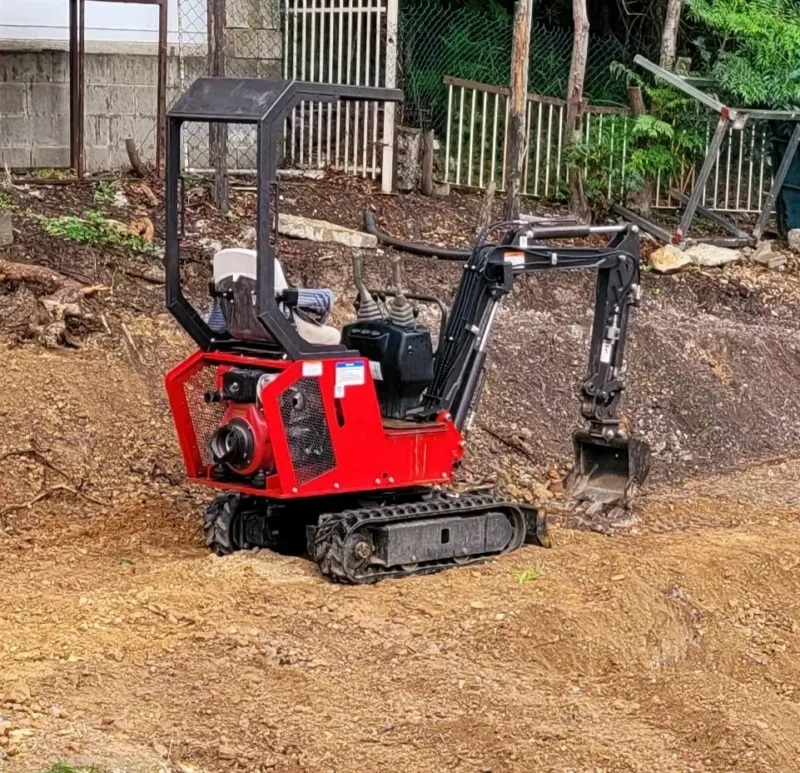 Mini excavator for tight access and operator for wet hire- Kingston, Queensland
