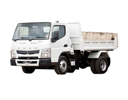 Hire 4.5 tonne gvm tipper truck with hiab crane
