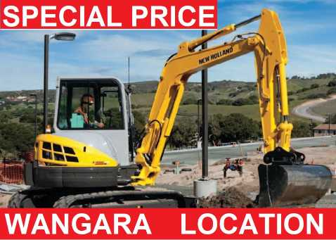 Hire 5.5T EXCAVATOR WITH BUCKETS