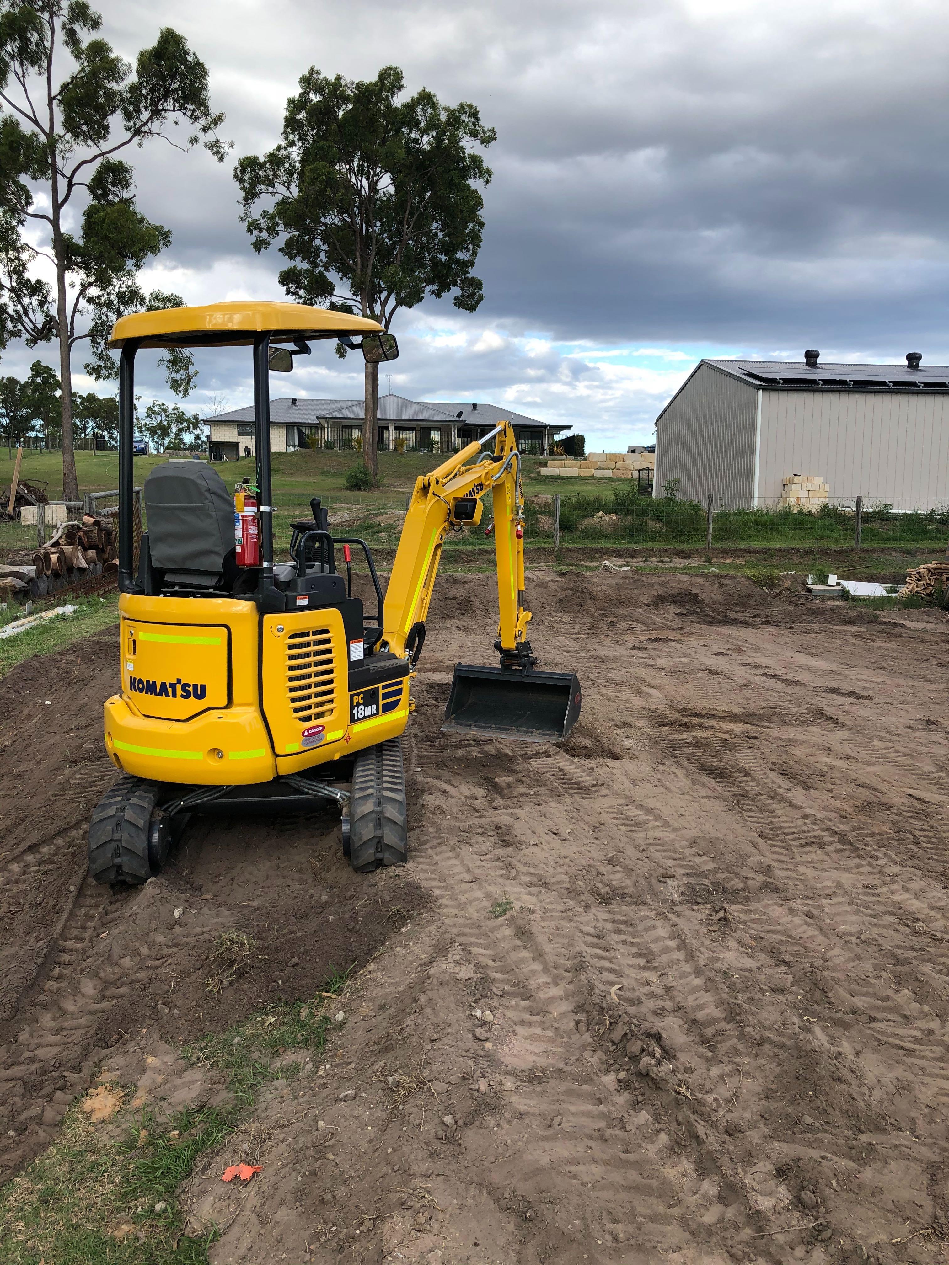 Hire PC18 Komatsu Mini Digger Excavator