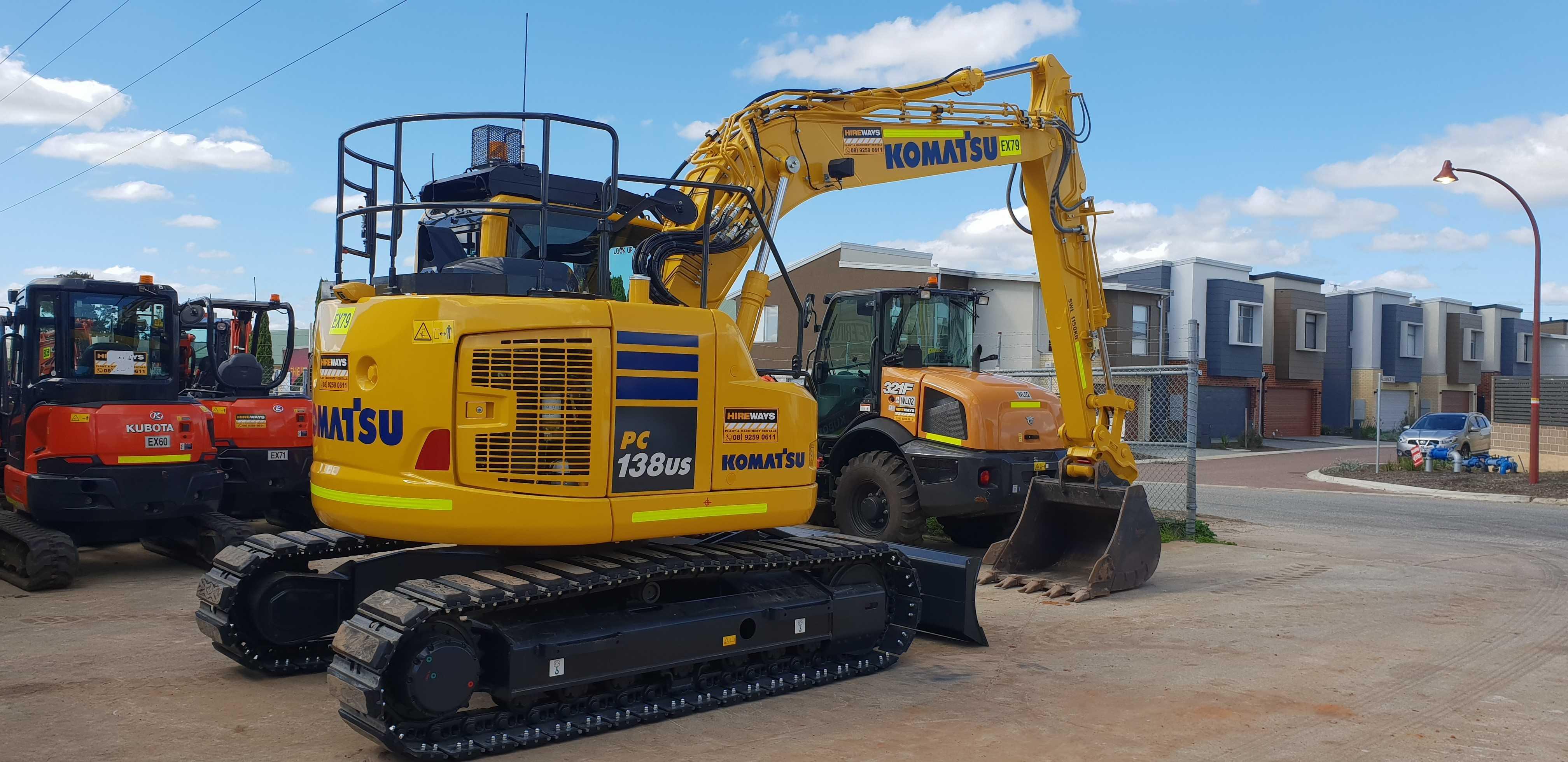 Hire 15T Zero Swing Excavator