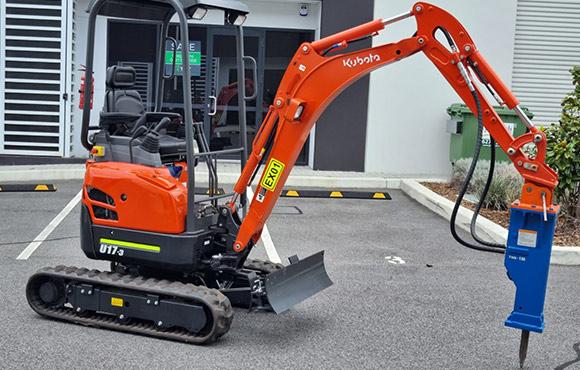 Kubota U17-3 1.7t excavator for dry hire - Karrinyup, Innaloo, Scarborough, Doubleview, Wembley Downs, Woodlands