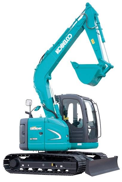 Hire 8 tonne Kobelco Excavator with off-set arm