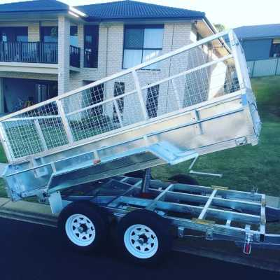 Hire 10x5 hydraulic tipper trailer