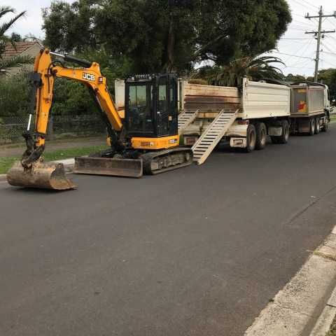 Hire 5T Excavator and Tipper Truck - Combo