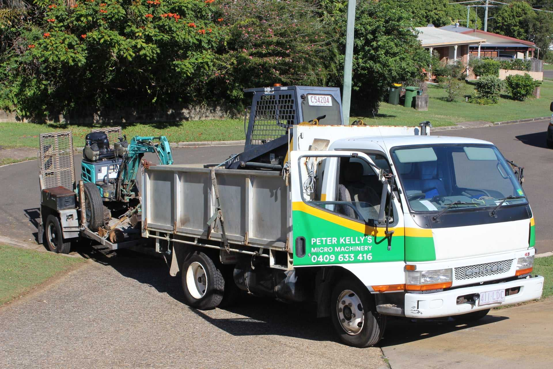1 tonne excavator, skid steer loader, and 4.5 tonne tipper combo for wet hire (with operator)-Parklands, Maroochy River, Marcoola, Nambour, Bli Bli, Pacific Paradise, Rosemount