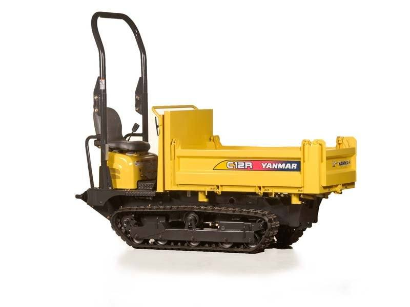 Hire 1200kg tight access tracked mini dumper with trailer