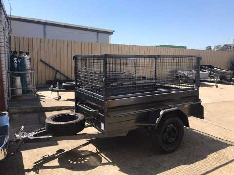 Hire Box trailer caged 8x5ft