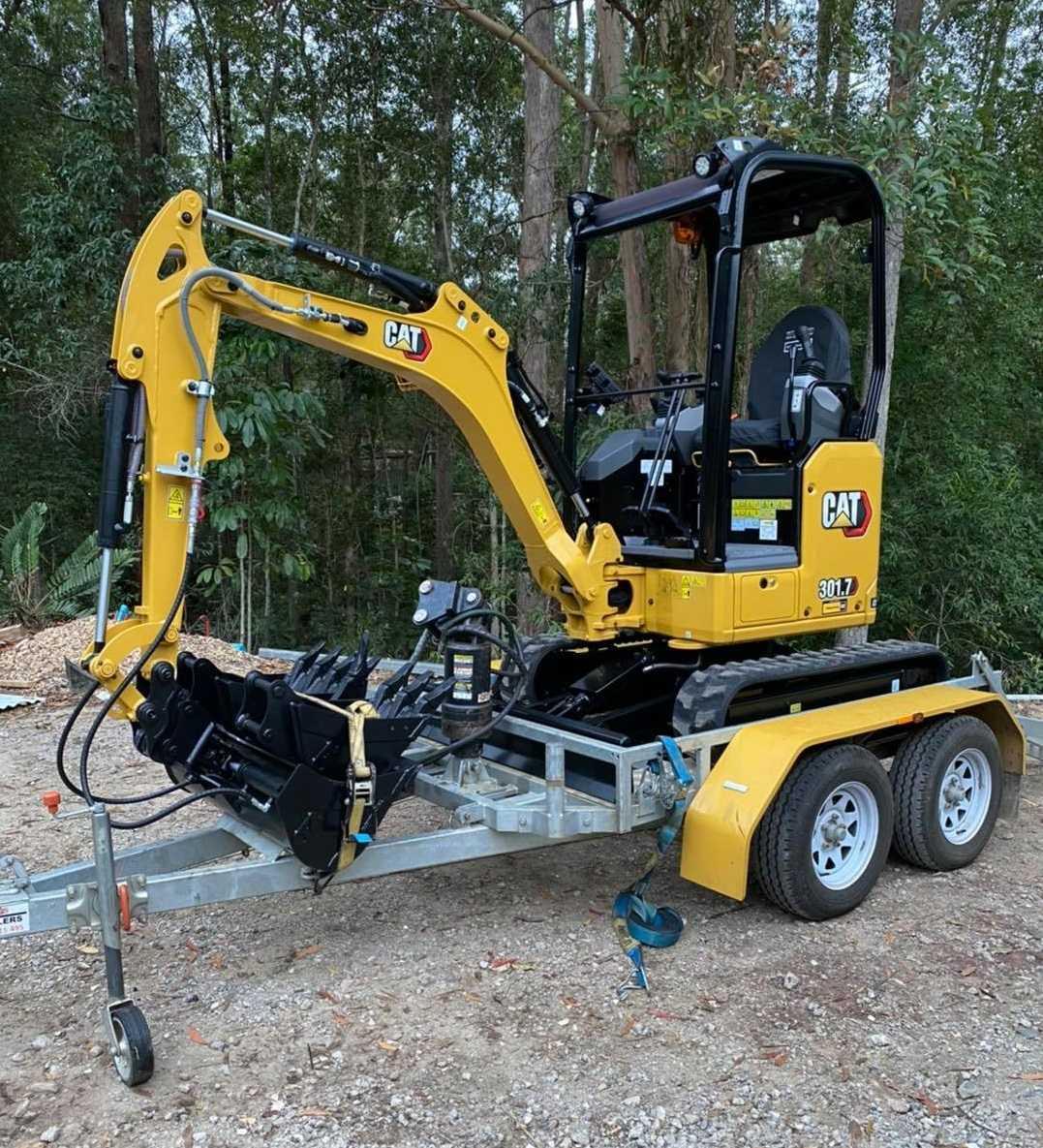 Hire Next Gen CAT 1.7t excavator