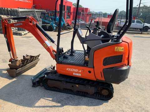 Hire Kubota 1.8 ton excavator