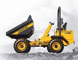Hire Barford 9 tonne 4x4 swivel site dumper