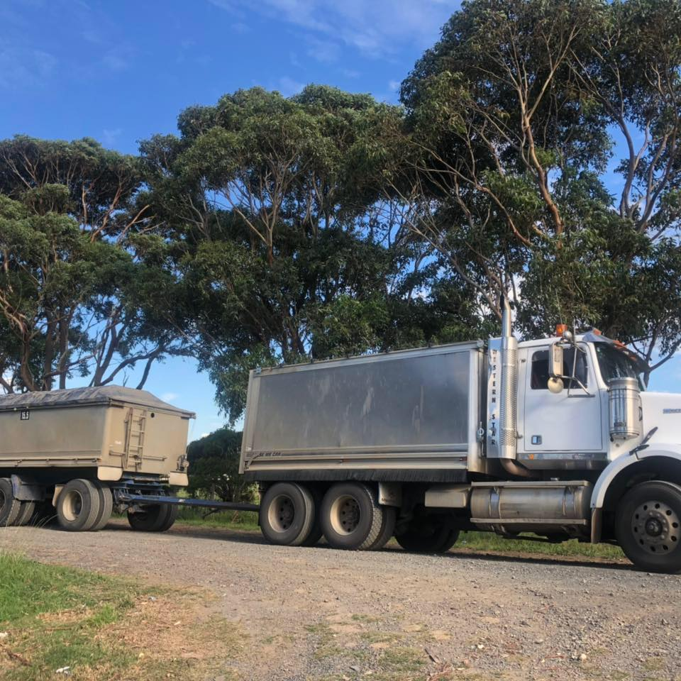 Hire Truck and Dog Trailer combo carrying 43.5T
