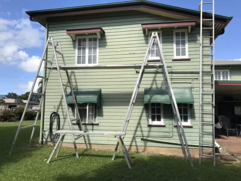 Hire 4m Scaffolding Trestles with 4m Aluminium Planks & 6m Extension Ladder- Manunda, Parramatta Park, Westcourt, Bungalow, Mooroobool, Cairns