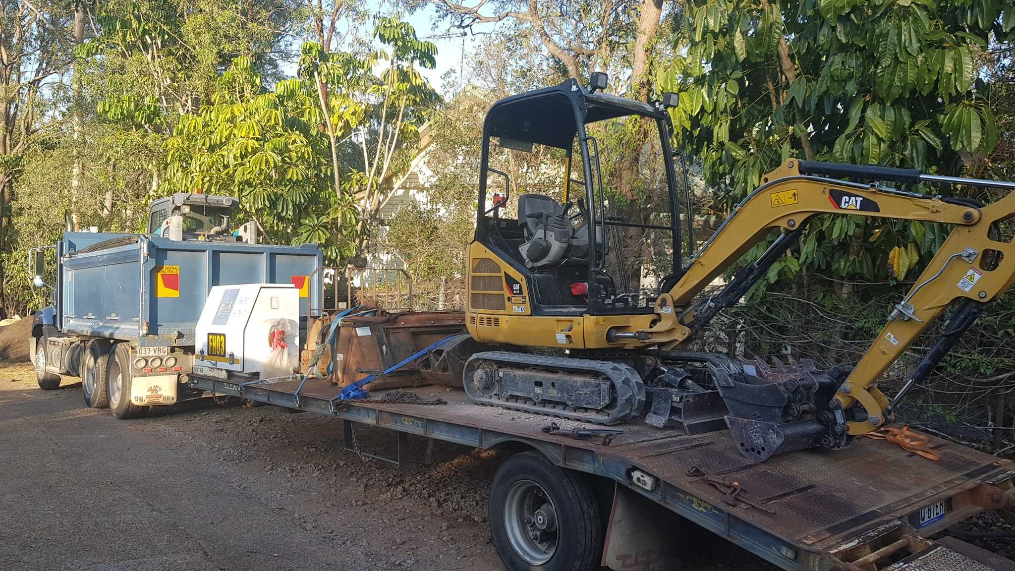 5 Ton Excavator, Bobcat and Tipper truck combo for hire Tanah Merah