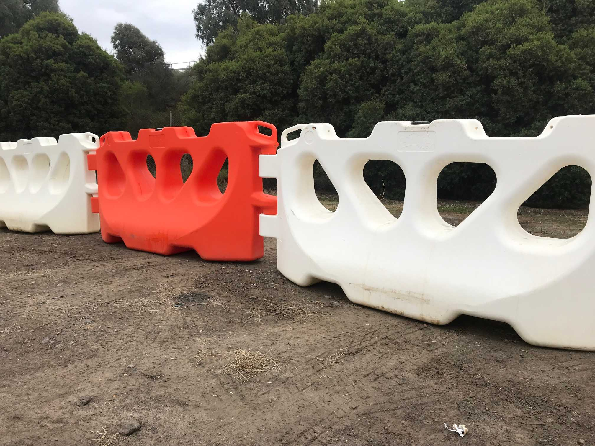 Hire Plastic water filled Road barriers
