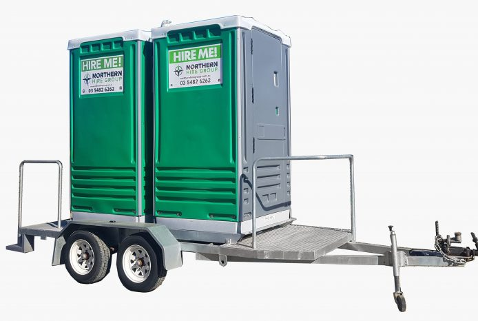 Hire Double Toilet on Trailer