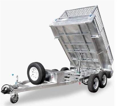 Tipping Trailer  (10ft x 5ft 2800kg ATM) for dry hire Cedar Creek, Kingsholme, Willowvale, Cedar Creek, Wongawallan, Upper Coomera, Tamborine Mountain, Gunanaba, Maudsland, Oxenford